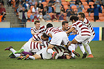 HOUSTON, TX - DECEMBER 11:  Stanford University celebrates after winning in a penalty shootout against Wake Forest University during the Division I Men's Soccer Championship held at the BBVA Compass Stadium on December 11, 2016 in Houston, Texas.  Stanford defeated Wake Forest in a penalty shootout for the national title. (Photo by Justin Tafoya/NCAA Photos via Getty Images)