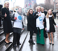 NEW YORK, NY March 08, 2018:  Princess Maria Carolina, Duchess of Calabria and Palermo, H.R.H. Princess Camilla of Bourbon Two Sicilies, Duchess of Castro, Princess Maria Chiara, Duchess of Capri in Rome, Monaco and Paris  attendInternational Women's Day at United Nations in New York. March 07, 2018 <br /> CAP/MPI/RW<br /> &copy;RW/MPI/Capital Pictures