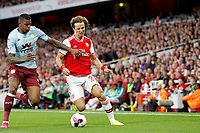 Wesley of Aston Villa and David Luiz of Arsenal during the Premier League match between Arsenal and Aston Villa at the Emirates Stadium, London, England on 22 September 2019. Photo by Carlton Myrie / PRiME Media Images.