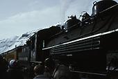 D&amp;SNG #481 with Cascade Canyon winter train at Durango depot.<br /> D&amp;S  Durango, CO