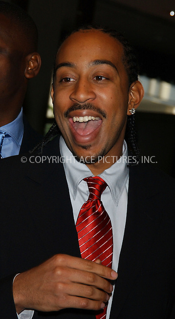 "WWW.ACEPIXS.COM . . . . . ....NEW YORK, APRIL 29, 2006....Chris ""Ludacris"" Bridges at the 2006 White House Correspondents Dinner.....Please byline: KRISTIN CALLAHAN - ACEPIXS.COM.. . . . . . ..Ace Pictures, Inc:  ..(212) 243-8787 or (646) 679 0430..e-mail: picturedesk@acepixs.com..web: http://www.acepixs.com"