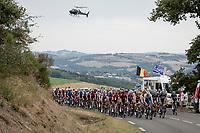 peloton<br /> <br /> Stage 1: Clermont-Ferrand to Saint-Christo-en-Jarez (218km)<br /> 72st Critérium du Dauphiné 2020 (2.UWT)<br /> <br /> ©kramon