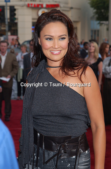 Tia Carrera arriving at the premiere of Reign Of Fire at the Westwood Village Theatre in Los Angeles. July 9. 2002.