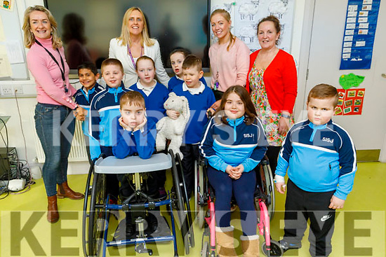 The First Communion class of St Ita's and St Joesph's with their teachers on Thursday<br /> L to r: Denise O'Halloran, Grace Sheehan (Principal), Denise Kerins and Liz Brosnan.
