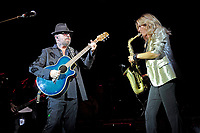 LONDON, ENGLAND - SEPTEMBER 8: Dave Stewart and Candy Dulfer performing at Shepherd's Bush Empire on September 8, 2017 in London, England.<br /> CAP/MAR<br /> &copy;MAR/Capital Pictures