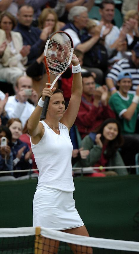Photo. Jed Wee..Wimbledon Championships. 25/06/2005..Lindsay Davenport.