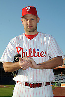 Feb 20, 2009; Clearwater, FL, USA; The Philadelphia Phillies pitcher Dave Borkowski (58) during photoday at Bright House Field. Mandatory Credit: Tomasso De Rosa/ Four Seam Images