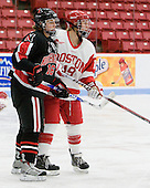 Julia Marty (NU - 16), Jenelle Kohanchuk (BU - 19) - The Boston University Terriers defeated the visiting Northeastern University Huskies 3-0 on Tuesday, December 7, 2010, at Walter Brown Arena in Boston, Massachusetts.