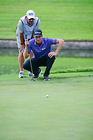 Webb Simpson (USA) lines up his birdie attempt on 18 during round 3 of the Dean &amp; Deluca Invitational, at The Colonial, Ft. Worth, Texas, USA. 5/27/2017.<br /> Picture: Golffile | Ken Murray<br /> <br /> <br /> All photo usage must carry mandatory copyright credit (&copy; Golffile | Ken Murray)