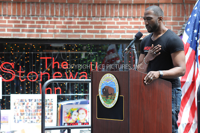 www.acepixs.com<br /> June 27, 2016  New York City<br /> <br /> Atmosphere at a dedication ceremony officially designating the Stonewall Inn as a national monument to gay rights on June 27, 2016 in New York City.<br /> <br /> <br /> Credit: Kristin Callahan/ACE Pictures<br /> <br /> <br /> Tel: 646 769 0430<br /> Email: info@acepixs.com