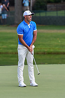Brooks Koepka (USA) reacts to barely missing his birdie putt on 18 during round 4 of the WGC FedEx St. Jude Invitational, TPC Southwind, Memphis, Tennessee, USA. 7/28/2019.<br /> Picture Ken Murray / Golffile.ie<br /> <br /> All photo usage must carry mandatory copyright credit (© Golffile | Ken Murray)