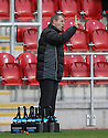 Stevenage manager Gary Smith. Rotherham United v Stevenage - FA Cup 1st Round - New York Stadium, Rotherham - 3rd November 2012. © Kevin Coleman 2012.