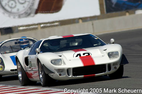 John Brice races his 1966 Ford GT40 at the 32nd Rolex Monterey Historic Automobile Races, 2005
