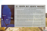 St. Joe's Bay Preserve Sign