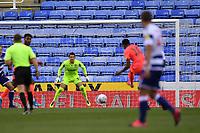 7th July 2020; Madejski Stadium, Reading, Berkshire, England; English Championship Football, Reading versus Huddersfield; the shot from Chris Willock of Huddersfield is easily saved by Rafael of Reading