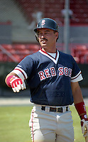 Boston Red Sox Mike Greenwell during spring training circa 1992 at Chain of Lakes Park in Winter Haven, Florida.  (MJA/Four Seam Images)