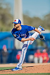 6 March 2019: Toronto Blue Jays pitcher Ryan Tepera on the mound during a Spring Training game against the Philadelphia Phillies at Dunedin Stadium in Dunedin, Florida. The Blue Jays defeated the Phillies 9-7 in Grapefruit League play. Mandatory Credit: Ed Wolfstein Photo *** RAW (NEF) Image File Available ***