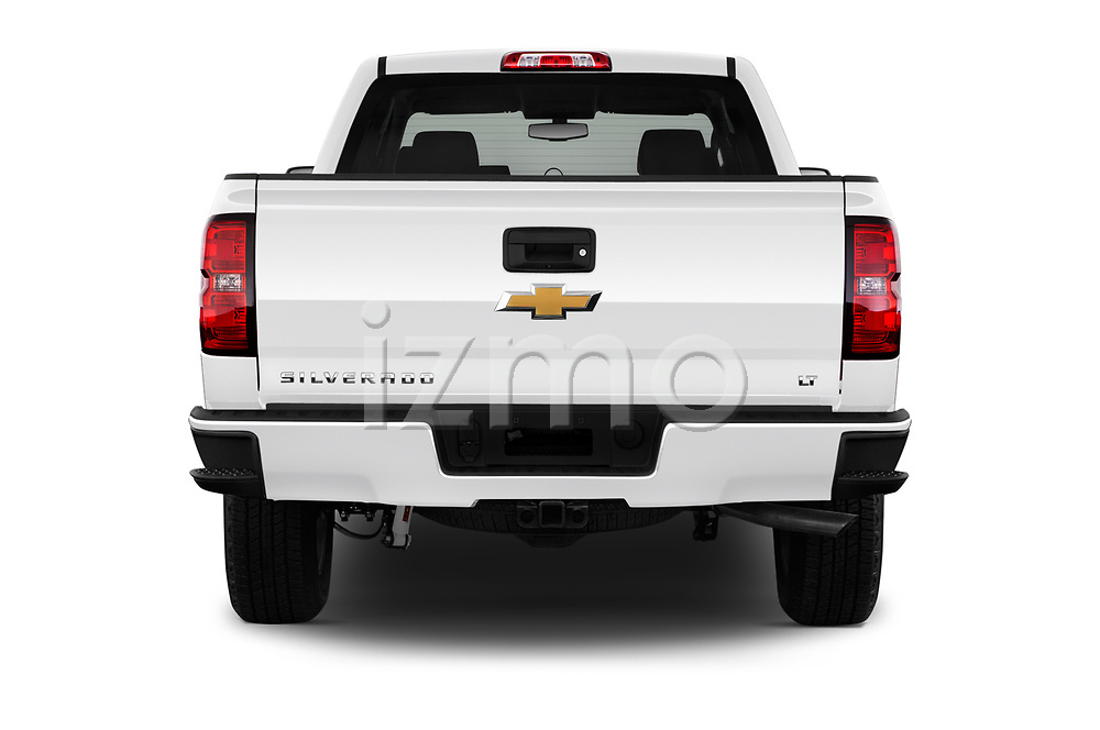 Straight rear view of 2018 Chevrolet Silverado-1500 LT-Z71-Crew 4 Door Pick-up Rear View  stock images