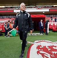 Alan Curtis, assistant coach for Swansea exits the tunnel prior to the Sky Bet Championship match between Middlesbrough and Swansea City at the Riverside Stadium, Middlesbrough, England, UK. Saturday 22 September 2018