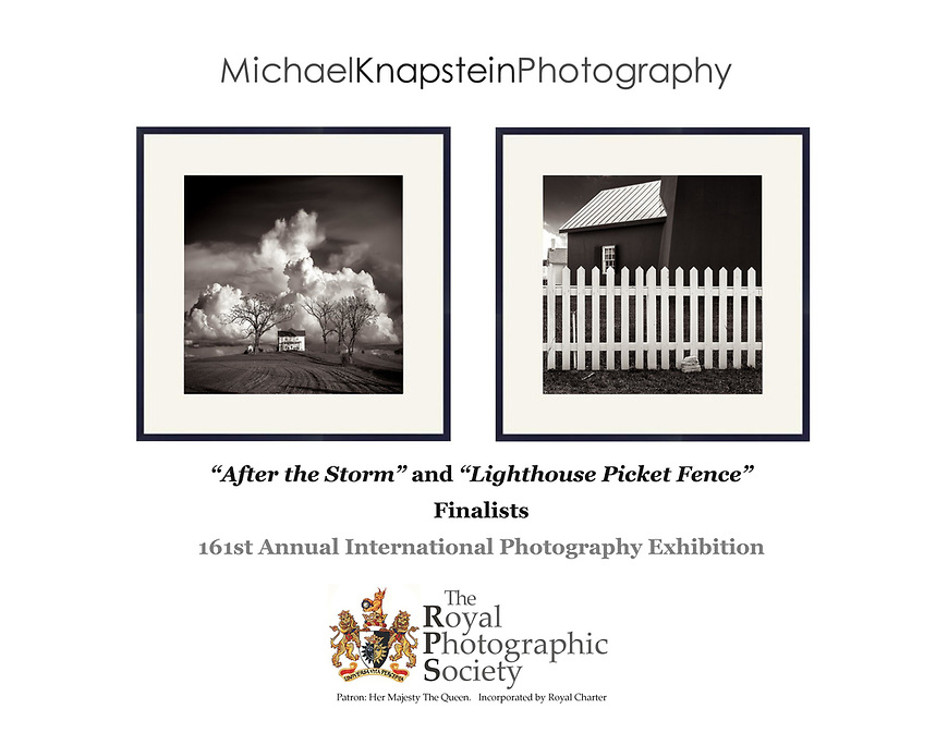 """After the Storm"" and ""Lighthouse Picket Fence"" were selected as finalists for the Royal Photographic Society's 161st annual International Photography Exhibition."