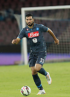 Raul Albiol   in action during the Italian Serie A soccer match between SSC Napoli and Verona  at San Paolo stadium in Naples, October 26, 2014