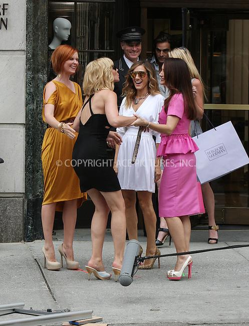 WWW.ACEPIXS.COM . . . . .  ....September 8 2009, New York City....Actresses Cynthia Nixon, Kim Cattrall, Sarah Jessica Parker and Kristin Davis on the set of the new 'Sex and the City' movie on September 8 2009 in New York City....Please byline: AJ Sokalner - ACEPIXS.COM..... *** ***..Ace Pictures, Inc:  ..tel: (212) 243 8787..e-mail: info@acepixs.com..web: http://www.acepixs.com