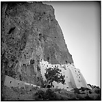 July 1996 -- Amorgos, Greek Islands -- A monastery built  into a cliff on the island of Amorgos. .Andrew Kaufman©1996