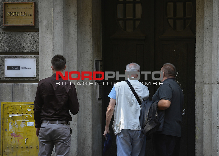 29.08.2013., Zagreb - Josip Perkovic comes in a law office Nobilo to his lawyer Anto Nobilo.<br /> Germany charged Perkovic for the murder of Stephen Durekovic that happened in 1983. Croatia should extradite Perkovic since joining in the European Union, but since the law is still not harmonized, he is still not extradited. Prime Minister Milanovic went off under pressure from the European Commission and he is waiting for the determination of the period in which Croatia will have to change Europe unacceptable ''Lex Perkovic''.<br /> <br />   Foto &not;&copy; nph / Marko Lukuniń&aacute;