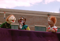 Puppet performance at neighborhood festival.  Minneapolis  Minnesota USA