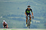 Nairo Quintana (COL) Movistar Team approaches the finish line at Peyragudes at the end of Stage 12 of the 104th edition of the Tour de France 2017, running 214.5km from Pau to Peyragudes, France. 13th July 2017.<br /> Picture: ASO/Pauline Ballet | Cyclefile<br /> <br /> <br /> All photos usage must carry mandatory copyright credit (&copy; Cyclefile | ASO/Pauline Ballet)