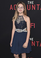 """HOLLYWOOD, CA - OCTOBER 10:  Izzy Fenech at the Los Angeles world premiere of """"The Accountant"""" at TCL Chinese Theater on October 10, 2016 in Hollywood, California. Credit: mpi991/MediaPunch"""