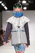 01/06/2015. London, UK. Collection by Holly Pendlebury. Fashion show of Bath Spa University at Graduate Fashion Week 2015. Graduate Fashion Week takes place from 30 May to 2 June 2015 at the Old Truman Brewery, Brick Lane.