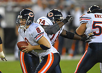Oct. 16, 2006; Glendale, AZ, USA; Chicago Bears quarterback (8) Rex Grossman against the Arizona Cardinals at University of Phoenix Stadium in Glendale, AZ. Mandatory Credit: Mark J. Rebilas