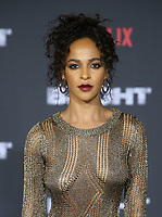 WESTWOOD, CA - DECEMBER 13: Megalyn Echikunwoke, at Premiere Of Netflix's 'Bright' at The Regency Village Theatre, In Hollywood, California on December 13, 2017. Credit: Faye Sadou/MediaPunch /NortePhoto.com NORTEPHOTOMEXICO