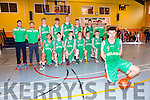 Castleisland's Adam Donoghue with the Irish Basketball under 16 boys team at the International friendly ahead of European Championship, playing against Scotland at Castleisland Community Centre on Friday