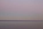 Purple scene of horizon at Atlantic Ocean in Old Greenwich, CT