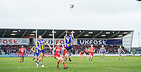 Picture by Allan McKenzie/SWpix.com - 04/03/2017 - Rugby League - Betfred Super League - Salford Red Devils v Warrington Wolves - AJ Bell Stadium, Salford, England - Kurt Gidley jumps to take the ball.