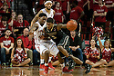 February 23, 2014: Benny Parker (3) of the Nebraska Cornhuskers draws a foul from Ronnie Johnson (3) of the Purdue Boilermakers during the second half at the Pinnacle Bank Arena, Lincoln, NE. Nebraska 76 Purdue 57.