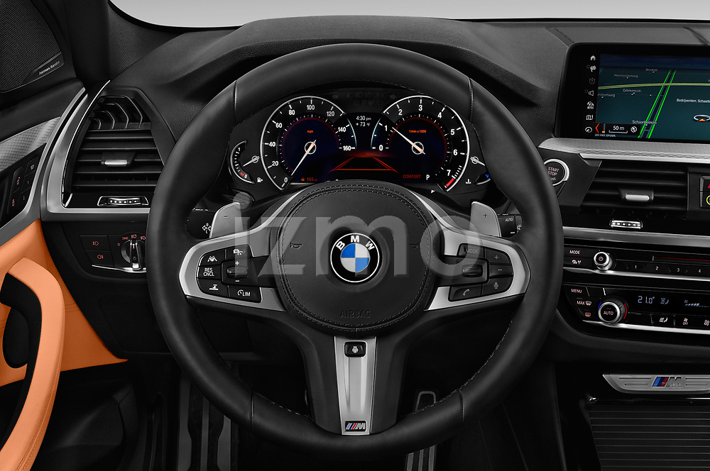 Car pictures of steering wheel view of a 2019 BMW X3 M40i 5 Door SUV