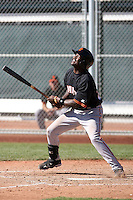 Wendell Fairley #23 of the San Francisco Giants plays in a minor league spring training game against the Arizona Diamondbacks at the Giants minor league complex on March 16, 2011  in Scottsdale, Arizona. .Photo by:  Bill Mitchell/Four Seam Images.