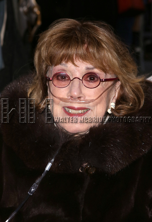 Phyllis Newman attends the Broadway Opening Night Performance of 'On the 20th Century'  at The American Airlines Theatre on March 12, 2015 in New York City.