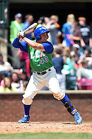Lexington Legends outfielder Dominique Taylor (40) at bat during a game against the Hagerstown Suns on May 19, 2014 at Whitaker Bank Ballpark in Lexington, Kentucky.  Lexington defeated Hagerstown 10-8.  (Mike Janes/Four Seam Images)