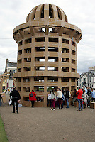 Cardboard art structure rounds off literature festival