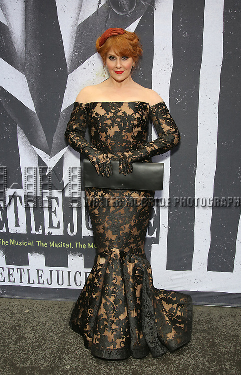 "attends the Broadway Opening Night Performance for ""Beetlejuice"" at The Wintergarden on April 25, 2019  in New York City."