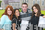 PROUD: Michelle Rosney, Fossa, Jennifer Licup, Killarney, Conor Murphy and Paula Corcoran, Kilcummin, delighted with their results in the Leaving Cert after they collected them at St Brigids Secondary School and St Brendans College, Killarney, on Wednesday..