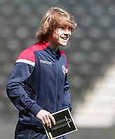 Bolton Wanderers' Luca Connell pictured before the match <br /> <br /> Photographer Andrew Kearns/CameraSport<br /> <br /> The EFL Sky Bet Championship - Derby County v Bolton Wanderers - Saturday 13th April 2019 - Pride Park - Derby<br /> <br /> World Copyright &copy; 2019 CameraSport. All rights reserved. 43 Linden Ave. Countesthorpe. Leicester. England. LE8 5PG - Tel: +44 (0) 116 277 4147 - admin@camerasport.com - www.camerasport.com