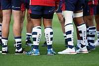 A general view of Bristol Bears branded socks. Gallagher Premiership match, between Bristol Bears and Bath Rugby on August 31, 2018 at Ashton Gate Stadium in Bristol, England. Photo by: Patrick Khachfe / Onside Images
