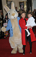 "Amy Childs and her daughter Polly at the ""Where Is Peter Rabbit?"" musical press night, Theatre Royal Haymarket, Suffolk Street, London, England, UK, on Tuesday 09th April 2019.<br /> CAP/CAN<br /> ©CAN/Capital Pictures"