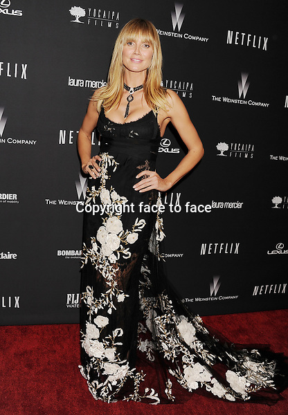 BEVERLY HILLS, CA- JANUARY 12: TV personality/model Heidi Klum attends The Weinstein Company &amp; Netflix 2014 Golden Globes After Party held at The Beverly Hilton Hotel on January 12, 2014 in Beverly Hills, California.<br />