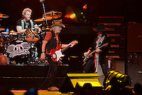 SUNRISE, FL - DECEMBER 09:  Joey Kramer, Brad Whitford and Joe Perry of Aerosmith perform at the BB&T Center on December 9, 2012 in Miami.  Credit: mpi04/MediaPunch Inc. /NortePhoto